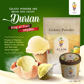 Ready mix for ice cream durian