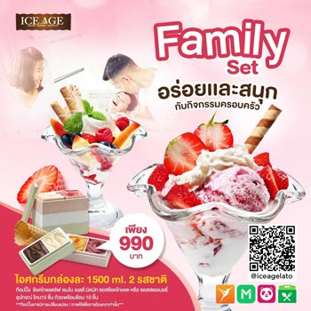 Ice cream family set